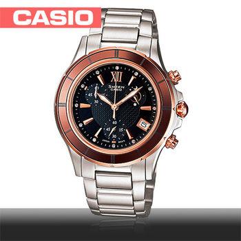 【CASIO SHEEN系列】陶瓷錶圈女錶(SHE-5516SG)