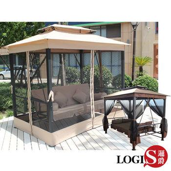 【LOGIS】瑪哈陵兩用鞦韆搖床 / 躺椅 吊椅 HC-138