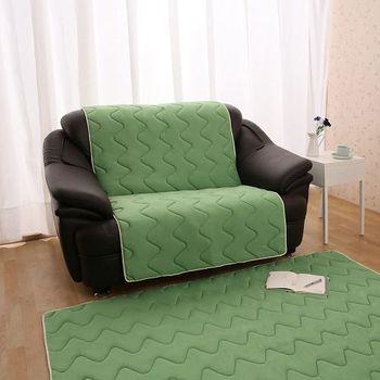 【HomeBeauty】夏季超涼感防潑水沙發保潔墊2人座-薄荷綠