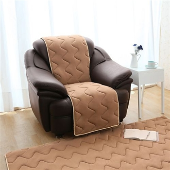 【HomeBeauty】夏季超涼感防潑水沙發保潔墊1人座-可可咖