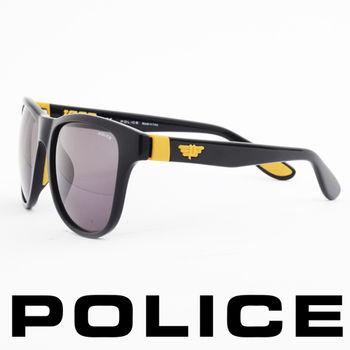 POLICE 個性型男眼鏡-膠框(黃色) POS1823-Z42G