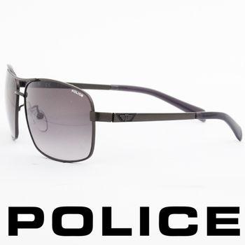 POLICE 型男眼鏡-金屬框(灰色) POS8879-0627