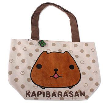 【kapibarasan】水豚君點點手提袋 水豚君