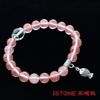 石頭記 草莓晶8mm手鍊-穩固愛情