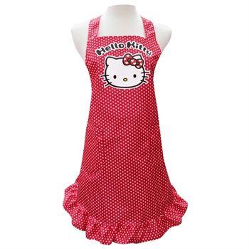 【Hello Kitty】荷葉裙擺大人圍裙KT-0422