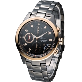 SEIKO Criteria艾莉絲奇遇計時腕錶7T92-0RW0K