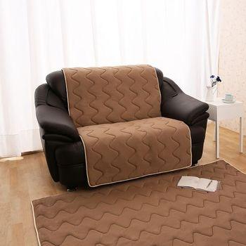 【HomeBeauty】夏季超涼感防蹣抗菌沙發保潔墊M2人咖啡
