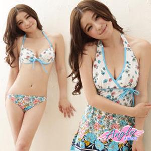 【天使霓裳】甜蜜女伶三件式鋼圈比基尼泳衣(共2色)-RH12812