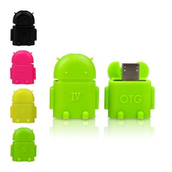 迷你安卓MicroUSB to USBA母OTG轉接頭 2入