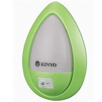 KINYO 氣氛LED小夜燈-白光(NL-11)2入