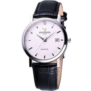 Valentino懷舊時光晶鑽腕錶 V-5540S時標男
