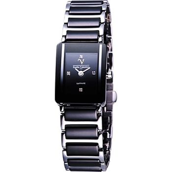Valentino黑曜石光采晶鑽陶瓷女錶(V367491SL)