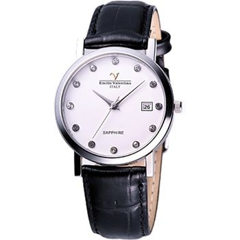 Valentino 懷舊時光晶鑽腕錶(V-5540S鑽男)