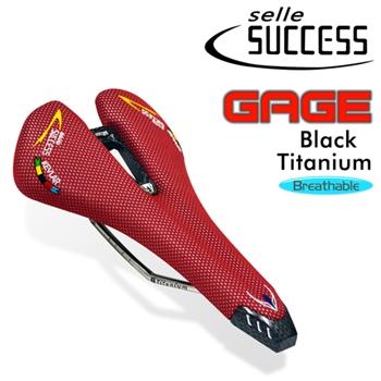 SUCCESS GAGE 專業自行車鈦弓KEVLAR透氣座墊(紅)