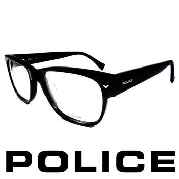 POLICE 個性型男眼鏡-膠框(亮黑) POV1765-0700
