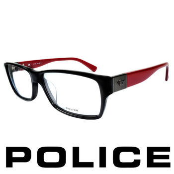 POLICE 個性型男眼鏡-膠框(深紅) POV1772-700R