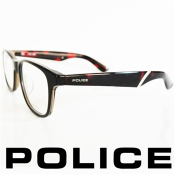 POLICE 型男眼鏡-膠框(琥珀紅) POV1792-0090
