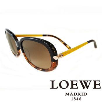 LOEWE 皮革大理石面太陽眼鏡(琥珀) SLW803-0905