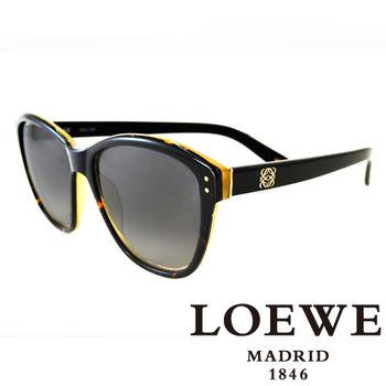 LOEWE 大理石面奢華花片太陽眼鏡(黑) SLW805-0U64