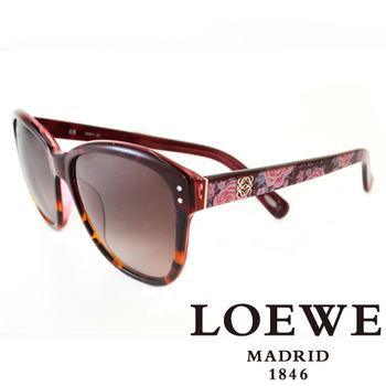 LOEWE 大理石面奢華花片太陽眼鏡(紅) SLW805-09QA