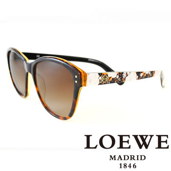 LOEWE 大理石面奢華花片太陽眼鏡(黃) SLW805-0961