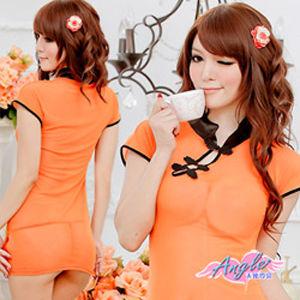 【天使霓裳】絕代驕女 改良式性感旗袍裝GS1146橘