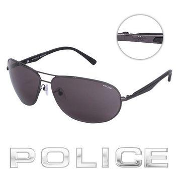 POLICE 飛行員太陽眼鏡 (鐵灰色) POS8757-0627