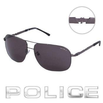 POLICE 太陽眼鏡 (銀黑色)  POS8747-584P