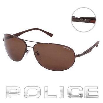 POLICE 飛行員太陽眼鏡 (古銅色) POS8757-K05P