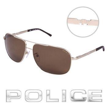 POLICE 飛行員太陽眼鏡 (金色)  POS8747-349P