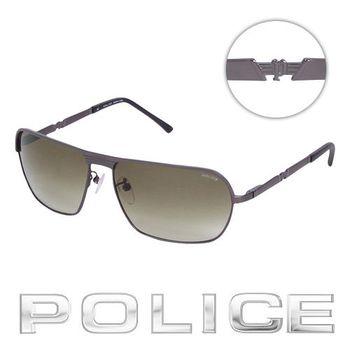 POLICE太陽眼鏡 (銀黑色) POS8745-0627