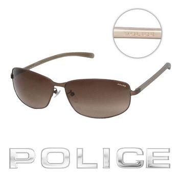 POLICE 飛行員太陽眼鏡 (古銅色) POS8697-0R10