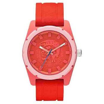 DIESEL 霸氣時尚龐克腕錶-紅DZ1627