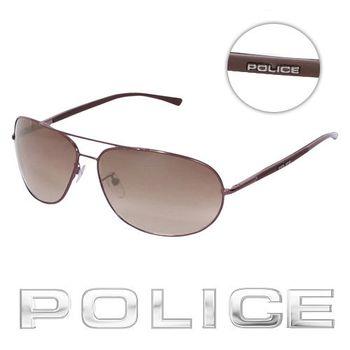POLICE 飛行員太陽眼鏡 (古銅色) POS8691-K01X