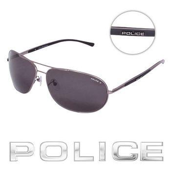 POLICE 飛行員太陽眼鏡 (銀灰色) POS8691-627P