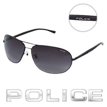 POLICE 飛行員太陽眼鏡 (消光黑) POS8691-0531