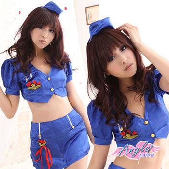 【天使霓裳】浪漫翱翔 紫色空姐服 角色扮演YC213