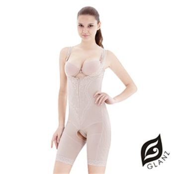 【GLANZ 格藍絲】280丹經典素雅提花機能美體防駝塑身衣