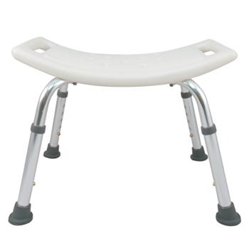 【舞動創意】輕量化鋁質可昇降浴室防滑洗澡椅(無背)
