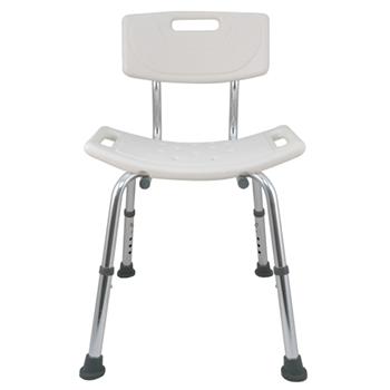 【舞動創意】輕量化鋁質可昇降浴室防滑洗澡椅(有背)