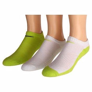 Nike 學生無外秀白綠色混搭短襪3入組