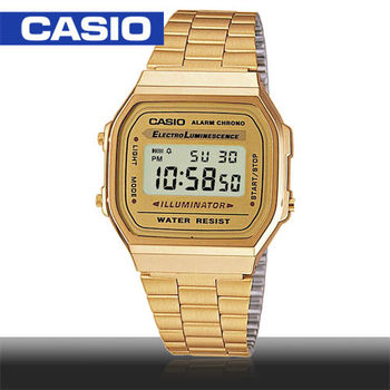 CASIO 卡西歐_銀色復古風電子錶_A-168WG_A168WG