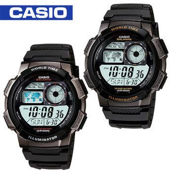 CASIO 卡西歐_儀表板環球數位電子錶_AE-1000W