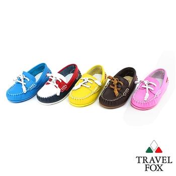 Travel Fox(童)童鞋天然純牛皮童趣經典帆船鞋