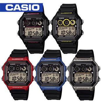 CASIO 卡西歐_復古風休閒運動腕錶_AE-1300WH