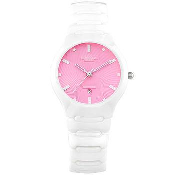 BOSSWAY繽紛馬卡龍陶瓷時尚腕錶-多色選擇-37.5mm