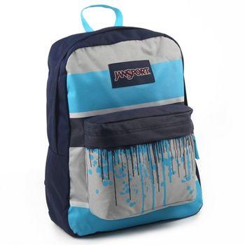 JanSport校園背包(SUPER BREAK)-水滴藍