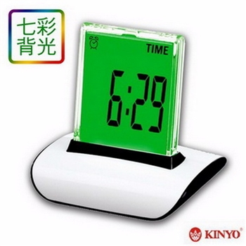 【KINYO】炫彩液晶數字鐘(TD-336)