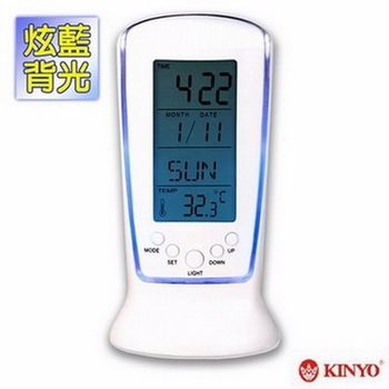 【KINYO】直立式液晶萬年曆數字鐘(TD-335)