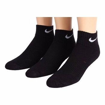 Nike 學生透氣款黑色運動低切短襪3入組